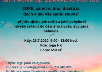 Letní workshop ZDRAVÉHO POHYBU