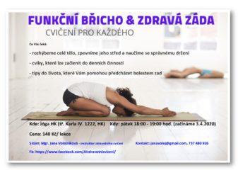 funkční břicho i zdravá záda od 3.4.2020